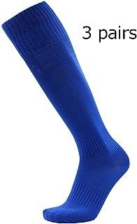 Calcetines deportivos de fútbol Calcetines de fútbol para hombre Calcetines de algodón unisex hasta la rodilla Calcetines del equipo de fútbol Athletic Tube Sock 3 pares para baloncesto Fútbol Fútbol