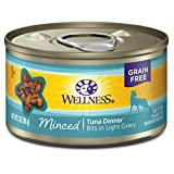 Wellness Complete Health Natural Grain Free Wet Canned Cat Food, Minced Tuna Entree, 3-Ounce Can (Pack of 24)
