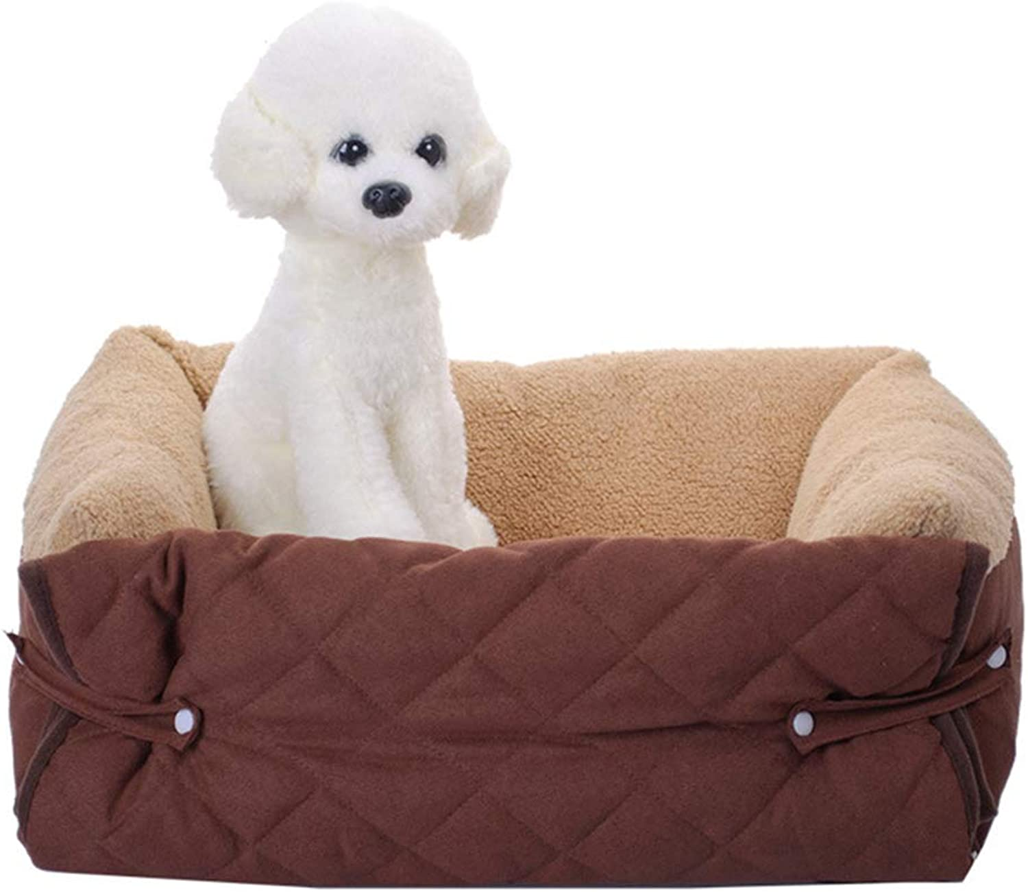 Dog Bed Premium Orthopedic Memory Foam Dogs Cover pet den pet Sofa mat cat Mattress Cover Small and Medium Sized Warm
