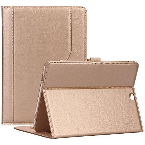 ProCase Funda Samsung Galaxy Tab S2 9,7 - Estuche Clásico Folio con Soporte Tapa Inteligente Plegable para Galaxy Tab S2 Tablet (9,7 Pulgadas, SM-T810 T815 T813), con Múltiples Ángulos de Visión -Oro