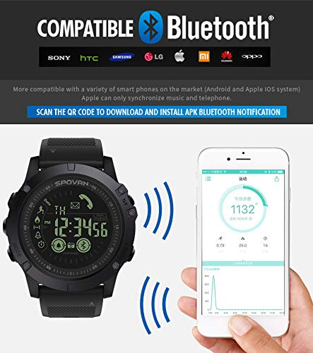 Birdfly Flagship Rugged Smartwatch 33-Month Standby Time 24h All-Weather Monitoring Under 20 Dollar (Black) 5