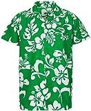 V.H.O Funky Hawaiian Shirt, hibiskusgreen L