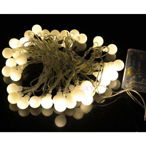 JnDee ™ Par piles Blanc chaud Berry guirlande boules LED 4 m 40LED ON/OFF/Flash fonctions, Parfait pour les mariages et les fêtes de Noël