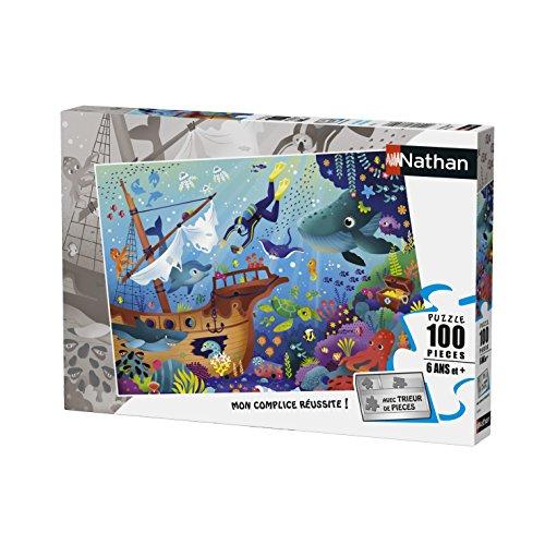 Nathan- Puzzle Le Monde sous-Marin 100 pièces, 86765