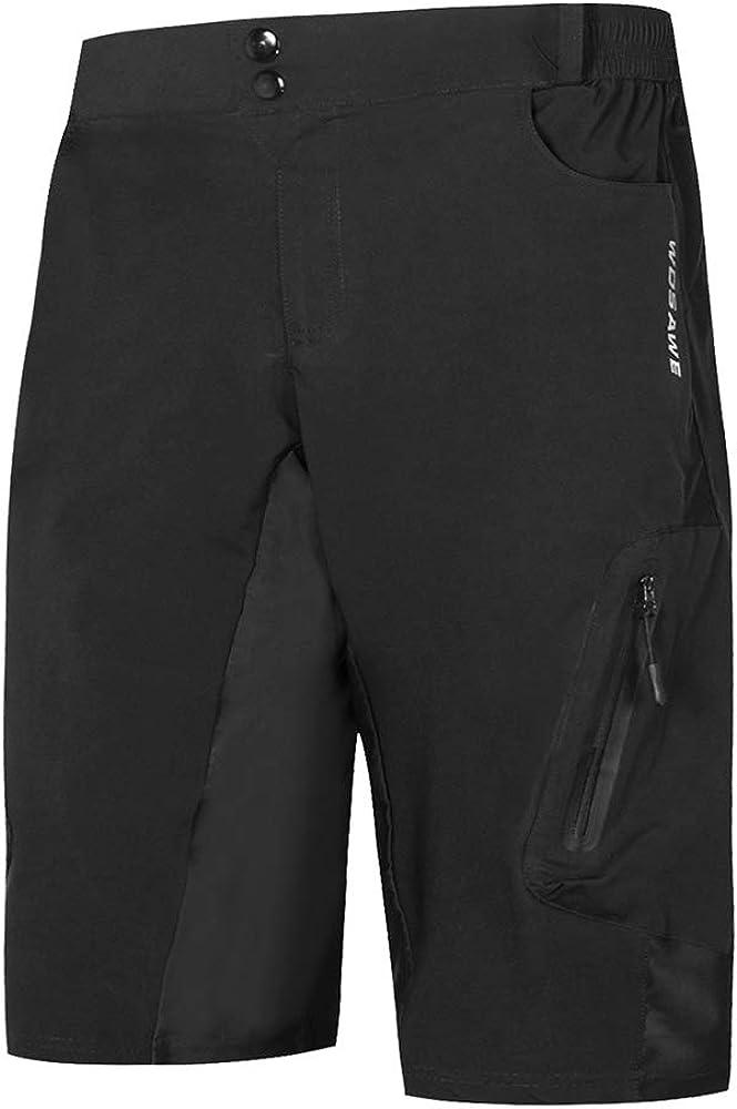 Lixada Pantalones Cortos de Ciclo Holgados de Hombres para MTB de los Deportes al Aire Libre Transpirables Sueltos