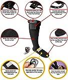 Warmawear beheizbare Socken mit DuoWärme Aufbewahrungsfach, 3 Wärmestufen und Fernbedienung – Klein (S) - 2