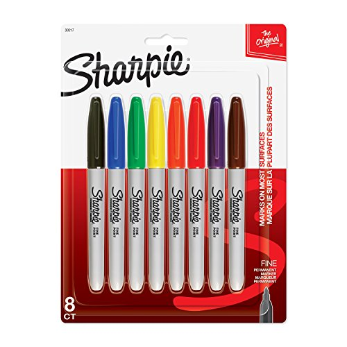 Sanford Sharpie Fine Point Permanent Markers 8/Pkg-Assorted Colors