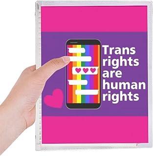 人権は人権である 硬質プラスチックルーズリーフノートノート