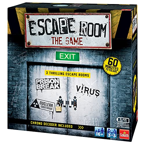Goliath Games Escape Room The 3 Pack Family Game for 16+, Multi-Colour