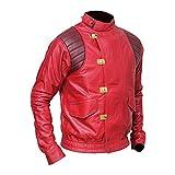 Bestzo Akira Kaneda Moto Giacca in Pelle Artificiale Rosso M