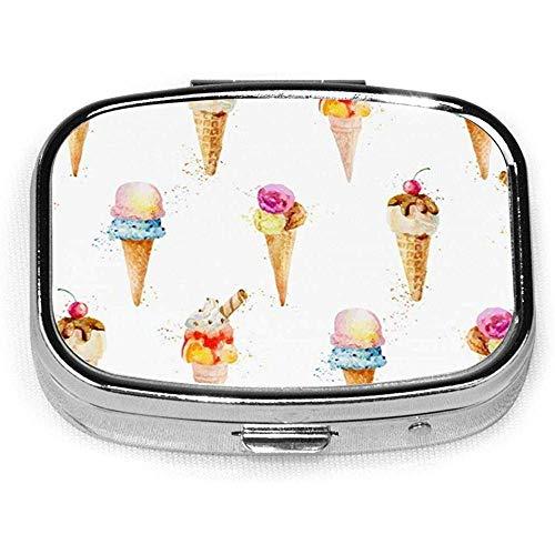 Essen und Trinken Benutzerdefinierte Mode Silber Quadrat Pille Box Medizin Tablettenhalter Brieftasche Organizer Fall für Tasche oder Geldbörse