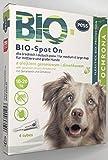 BIO Spot-On - 4 pipette contro zecche e pulci, prodotto antiparassitario su base biologica per cani e gatti di piccola taglia