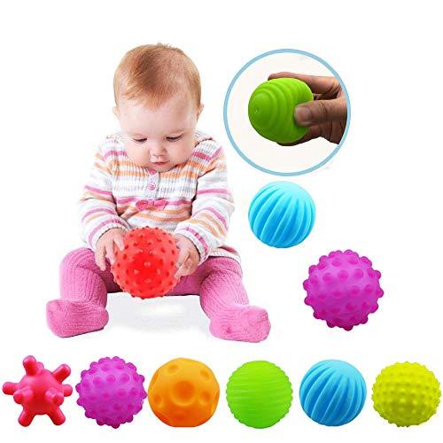 VintageⅢ Baby Infant Sensory Balls Structured Multi Ball Set Massage Soft Ball,6pcs