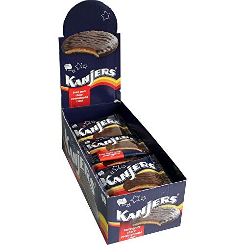 Kanjers Choco Caramelwafel 24 x 45g (Schoko-Karamell-Waffeln)