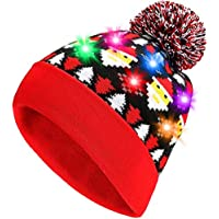 Urparcel Novelty LED Light Up Knitted Christmas Hats (various styles)
