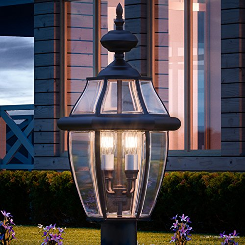 Luxury Colonial Outdoor Post Light, Large Size: 23