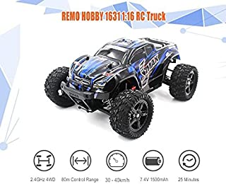 REMO 1631 RC Car 1/16 2.4G 4WD Brushed Off-Road Monster Truck SMAX RC Remote Control Toys with Transmitter RTR Car