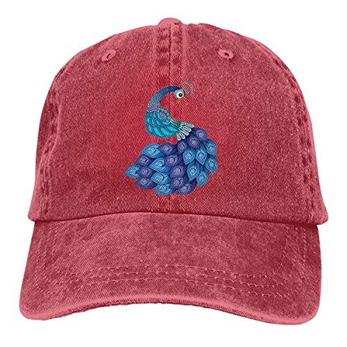 NXNXN Sombrero de Mezclilla de Vaquero Ajustable Retro Azul Pavo Real Gorras de béisbol Naturales de Hip Hop Unisex