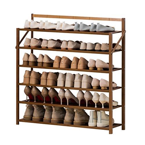zapatero 6 niveles de zapatos plegables bastidores de zapato de bambú Soporte de zapatos moderno Sencillez Hogar de la puerta de la puerta de la puerta de la puerta de la habitación del pasillo de la