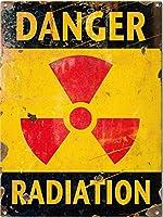 Jocar 壁の装飾牌のデザインヴィンテージ危険放射線は警告金属ティンサインを入力しないでくださいアルミニウムのブランドのバーの店のガソリンスタンドの家の室内の室外の装飾の札