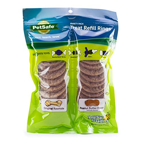 PetSafe Dog Treat Ring Variety Pack for Busy Buddy Toys – 2...