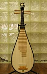 Standard Basic Grade Dunhuang Pipa Model# 597 comes with a set of finger picks, a tuning device, a tutorial VCD and a spare string. Soundboard: paulownia Body: Hard Wood Pegs: Yellow Sandalwood Fingerboard: Rosewood Head Design: Ru Yi