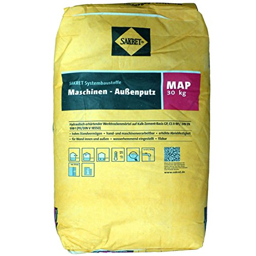 30Kg Außenputz 0,39Euro/Kg Putzmörtel Trockenmörtel Kalk-Zement-Mörtel zum Putzen SAKRET