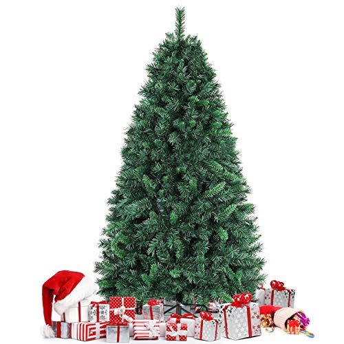 amzdeal 180CM Árbol de Navidad - Árbol Artificial con 750 Puntas, Material PVC Resistente al Fuego, Base Metálica Estable, Frondoso y Vívido, Montaje Fácil, Decoración Exterior/Interior