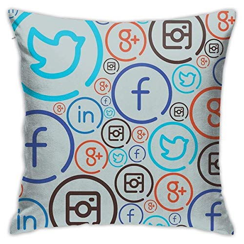 IUBBKI Social Media Crazy Square(45cmx45cm) Pillow Home Bed Room Interior Decoration