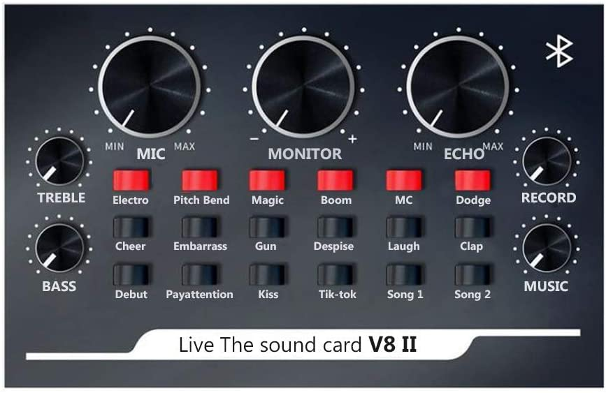Industry No. 1 USB Live Sound Card V8II Stream Mixer New popularity Audio for Ma Suitable