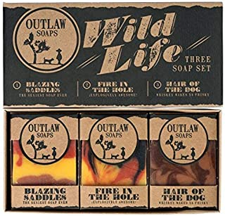 Wild Life Soap Gift Set - 3 Western-style Handmade Soaps in a Rustic Gift Box - The Ideal Gift for the Wild West Lover in your Life (Who Also Enjoys Being Clean)