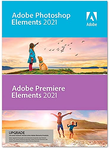 Adobe Photoshop Elements 2021 & Adobe Premiere Elements 2021 - Upgrade Upgrade 1 Gerät unbegrenzt PC/MAC Disc Disc
