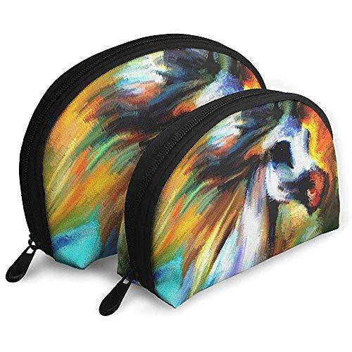 Arte Abstracto Pintura Caballo Bolsas porttiles Bolsa de Maquillaje Bolsa de Aseo, Multifuncin Bolsas de Viaje porttiles Pequea Bolsa de Embrague de Maquillaje con Cremallera