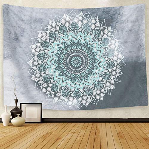 Tapiz de mandala Cootime, tapiz hippie, bohemio, con diseño de flores psicodélicas, para colgar en la pared, decoración para el dormitorio de estilo indio, para salón o dormitorio