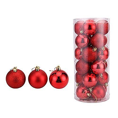 oamore Arte de Belleza Adornos de árbol de Navidad Bolas de Navidad Bola...