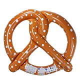 Inflatable Brown and White Giant Pretzel Pool Ring Float, 63-Inch