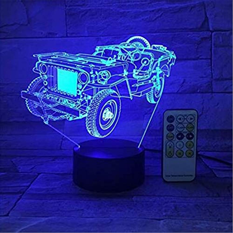 Led Lights Edison Lights 3D LED Farben 7 ndern Acryl Usb LED Tischlampe
