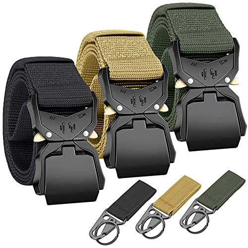 """3pc Heavy Duty Quick-Release EDC Belt 1.5"""" Nylon Gun Belt for Concealed Carry Holsters Pouches Military Training"""