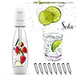 Portable Soda Water Maker Homeow Sparkling Water Maker Bottle SUDABA Mini Soda Machines for Home Soda Stream (BPA free) + 8 Standard 8g CO2 Cylinder