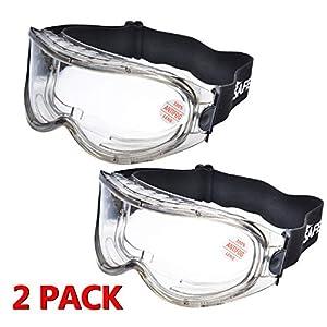 Pack de 5 Gafas de Seguridad Lentes de Protectoras Antivaho Transparent para Laboratorio Agricultura Industria lentes PC Unisex gafas de niebla ajustables NO.1 anti-impactos Anti-UV