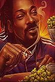 Surfilter Poster Snoop Dogg Smoking Poster auf Leinwand,