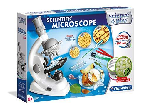 Clementoni 97298 - Microscopio para Laboratorio y experimentos, Fabricado en Italia, Juguete científico, para niños a Partir de 8 años, versión en inglés