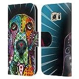 Head Case Designs Licenciado Oficialmente Dean Russo Perro de Caza Perros Carcasa de Cuero Tipo Libro Compatible con Samsung Galaxy S6