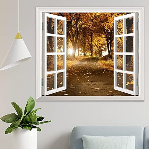 DKISEE Wpw282 - Adhesivo decorativo para pared, diseño de hojas de otoño y otoño