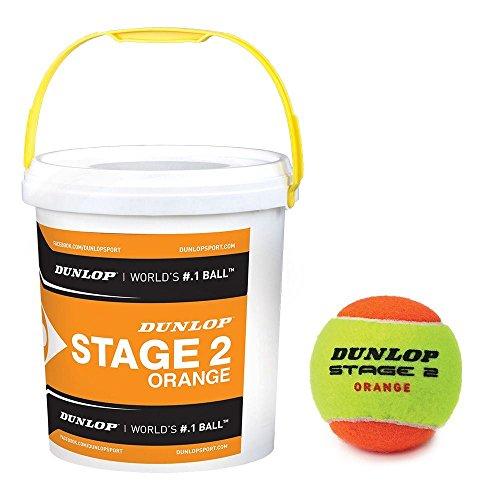 Dunlop - Stage 2 Mini Tennisball Eimer Niedigere Kompression 60 Bälle Eimer
