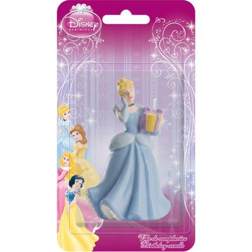 Dekoback 02-08-00164 Vela para Tartas de Princesas Disney