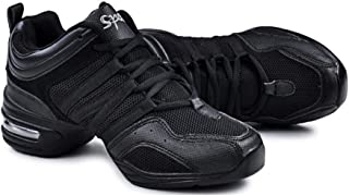 PADGENE Chaussures de Jazz pour Femmes, Baskets à Lacets-Coussin Respirant Dames Semelles Divisées Chaussures de Danse de ...
