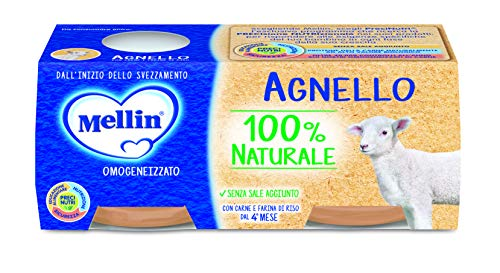 Mellin Omogeneizzato Agnello, 24 x 80g
