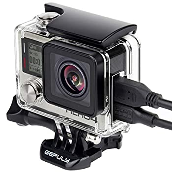 GEPULY Skeleton Housing Case for GoPro Hero 4 Hero 3+ Hero 3 Action Camera Side Open Protective Housing Case with Skeleton Backdoor and LCD Touch Backdoor for GoPro Hero4 Hero3+ Hero3 Camera