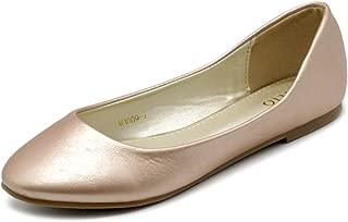 Ollio Women's Shoe Ballet Basic Light Comfort Low Heel Flat